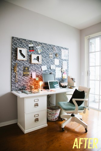 DIY : Un grand mood board pour accessoiriser son bureau   www.decocrush.fr