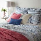linge de lit bleu motifs ethniques | zara_home