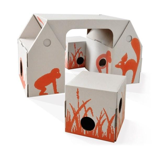 { Today I ♥ } Les bureaux d'enfants en carton design et pas cher - bo buro de kidsronroof sur smallable | www.decocrush.fr