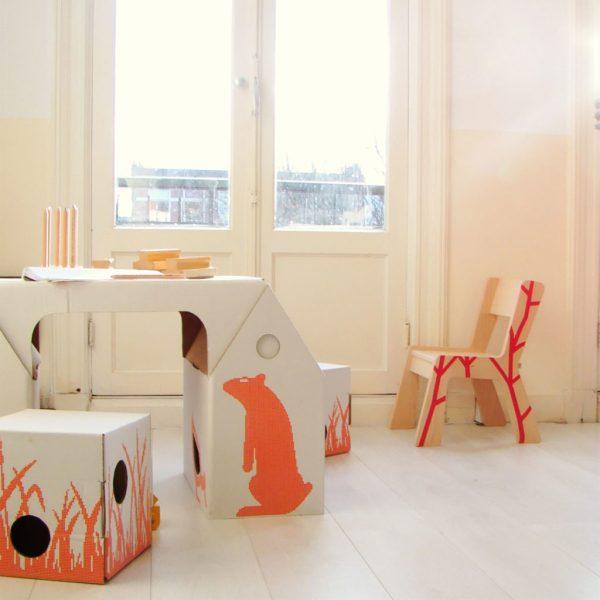 { Today I ♥ } Les bureaux d'enfants en carton design et pas cher ! www.decocrush.fr