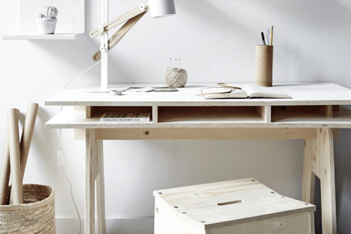 Diy Fabriquer Un Bureau Design Et Pas Cher Tout En Bois  # Fabriquer Un Meuble Scandinave