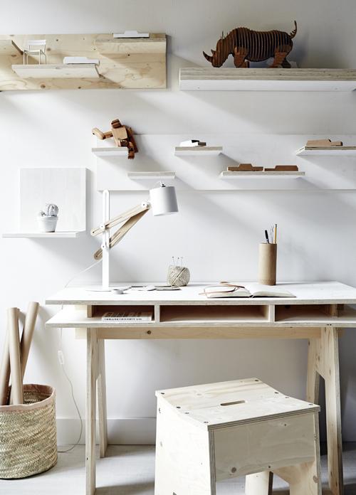 DIY | Fabriquer un bureau design et pas cher tout en bois ! www.decocrush.fr
