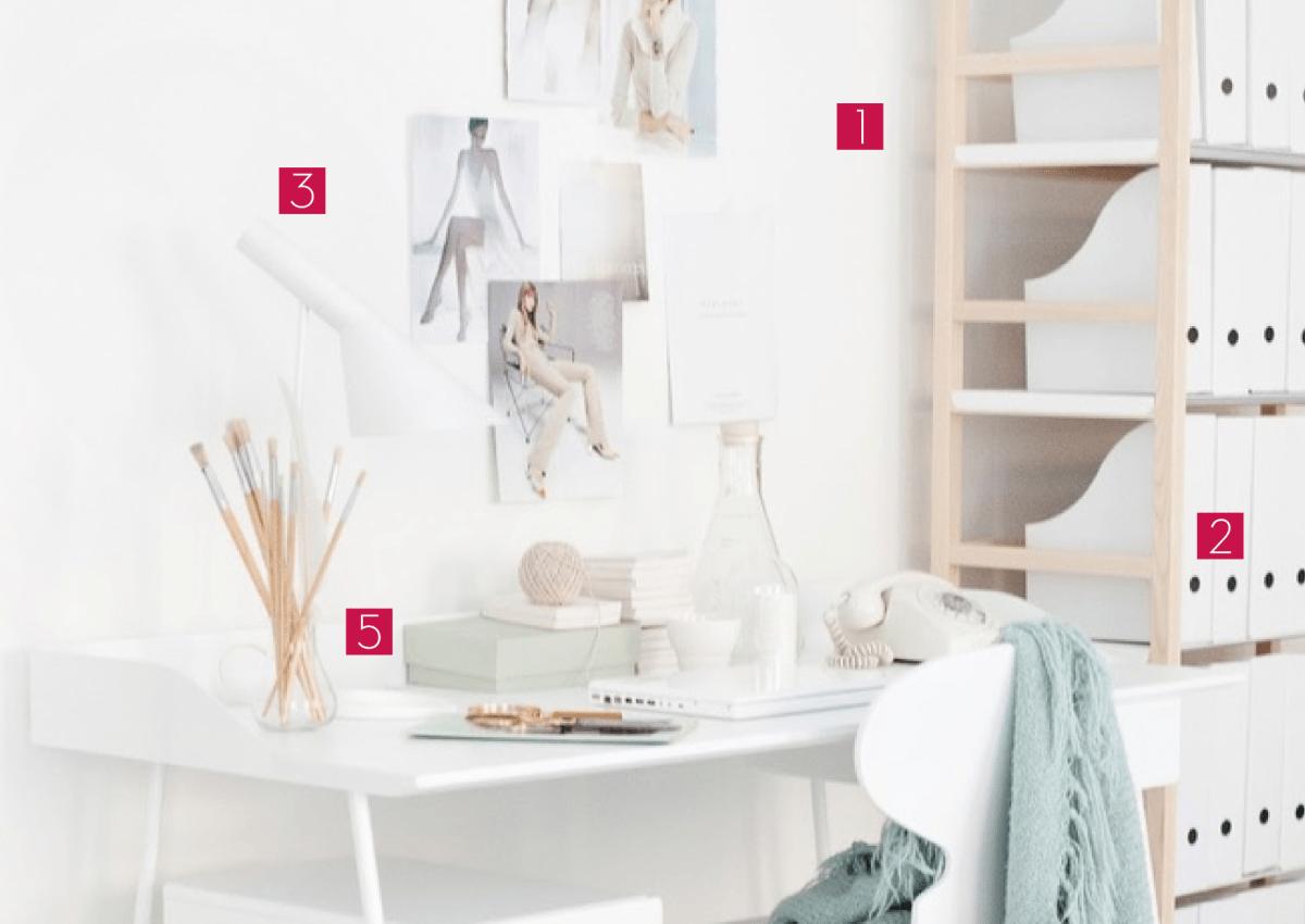 5 astuces d co pour un bureau fonctionnel petits prix. Black Bedroom Furniture Sets. Home Design Ideas