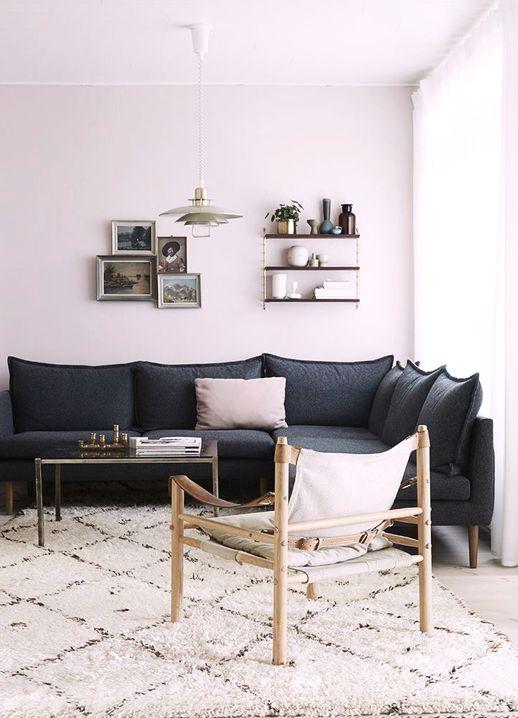 une touche de rose poudr decocrush. Black Bedroom Furniture Sets. Home Design Ideas