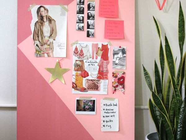 DIY : Un mood board géant, graphique & coloré… !
