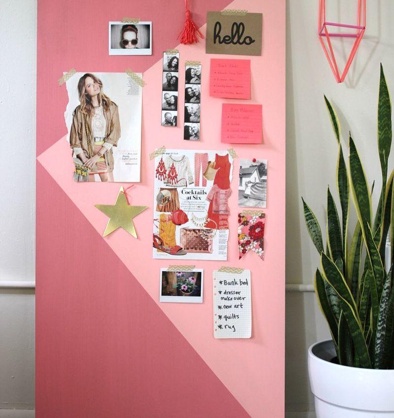 DIY : Un mood board géant, graphique & coloré… !