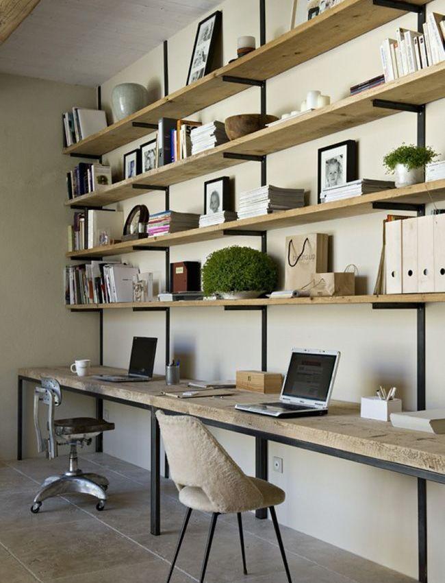 DIY : Un bureau industriel tout simple en bois brut et acier