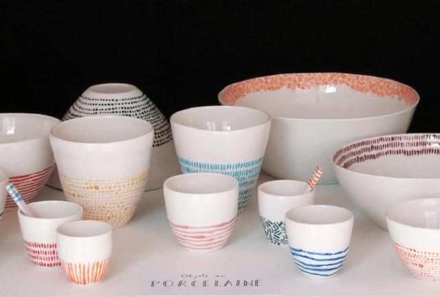 La vaisselle colorée d'Ismaël Carré | Salon Ob'art sur @deccorush - www.decocrush.fr