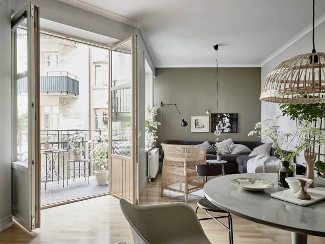 visite d co du gris pour une ambiance scandinave tr s chic decocrush. Black Bedroom Furniture Sets. Home Design Ideas