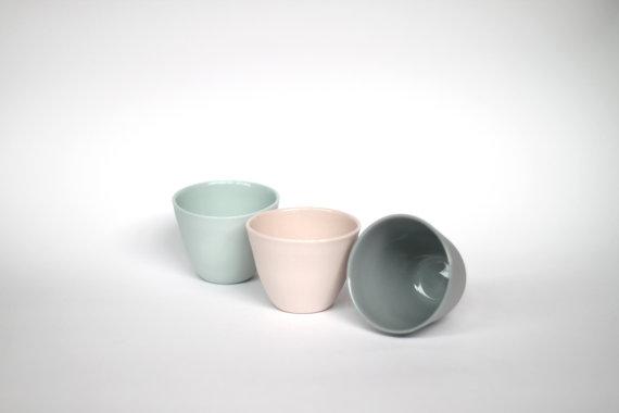 Tasses à café espresso couleur pastel