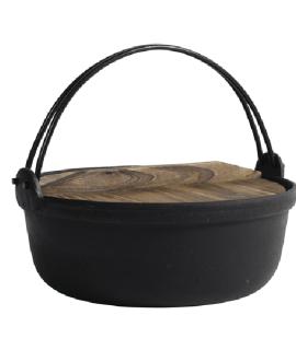Marmite faitout en fonte avec anse et couvercle bois Nordal chez Decoclico
