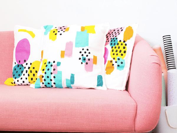 DIY : des coussins colorés et graphiques
