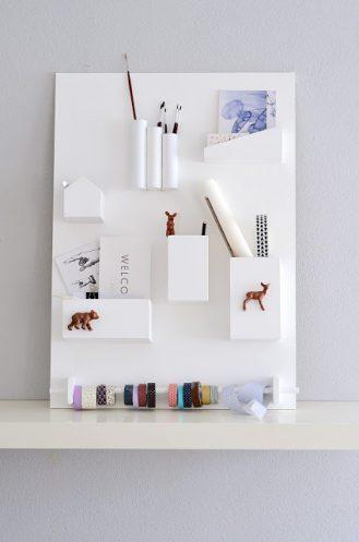 4 organiseurs muraux pour le bureau decocrush. Black Bedroom Furniture Sets. Home Design Ideas