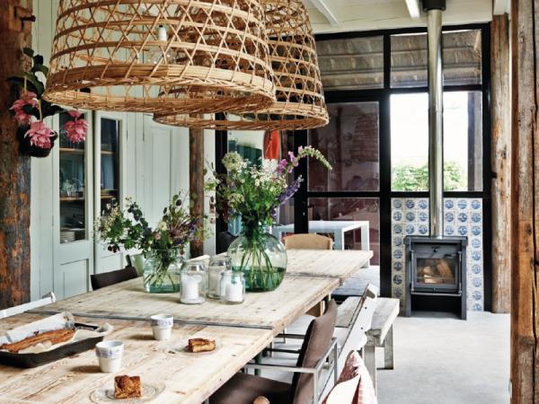 Une cuisine moderne au look rustique chic