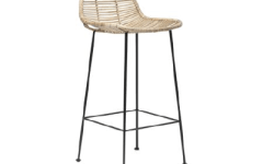 Tabouret de bar ethnique en rotin sur @decocrush