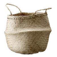 Shopping décoration folk : panier en jacinthe d'eau
