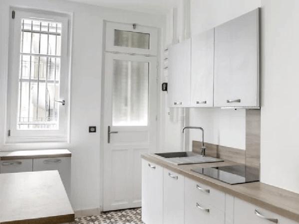 Exemple d'une cuisine dans appartement en location