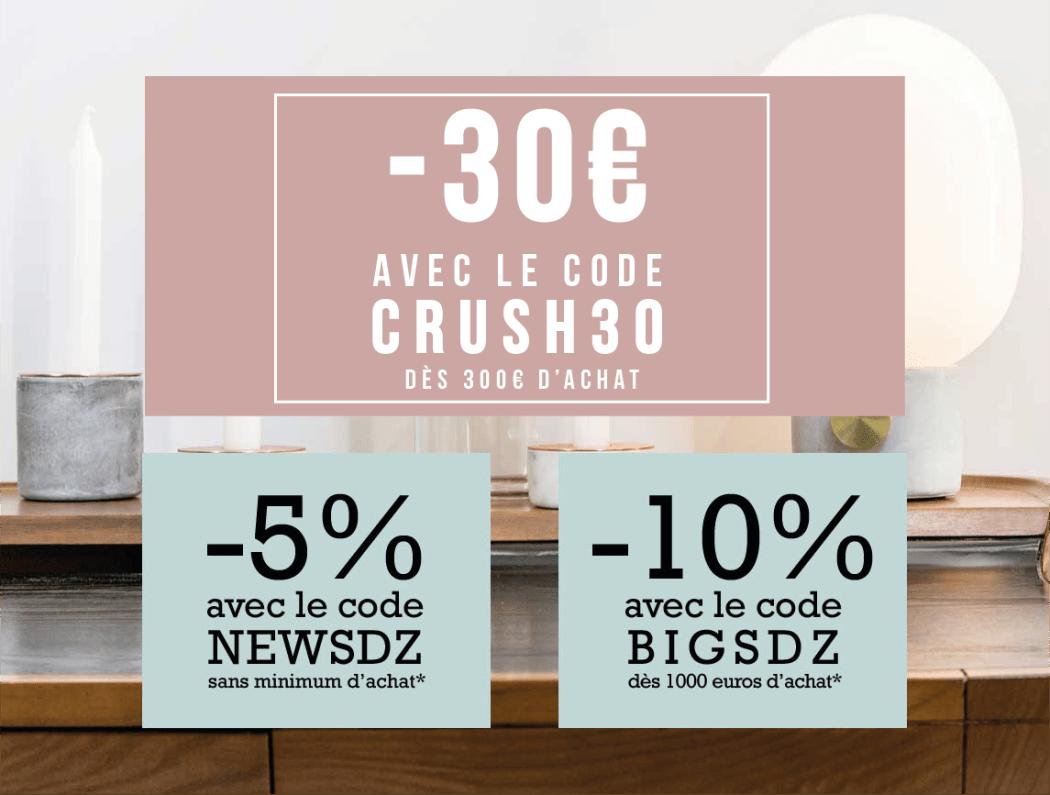 Bon plan shopping maison : meubles design en réduction, code promo exclusif chez Sodezign
