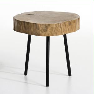Table de chevet en bois rustique et chic