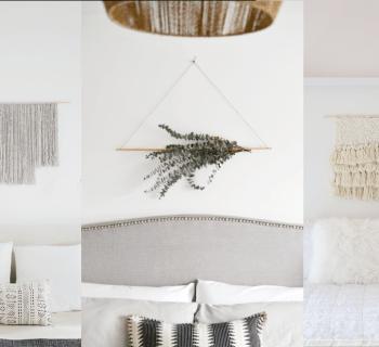 DIY : 3 déco graphiques et minimalistes pour la chambre