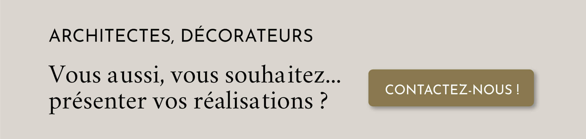 Architectes, décorateurs, photographes... Présentez votre travail sur www.decocrush.fr !