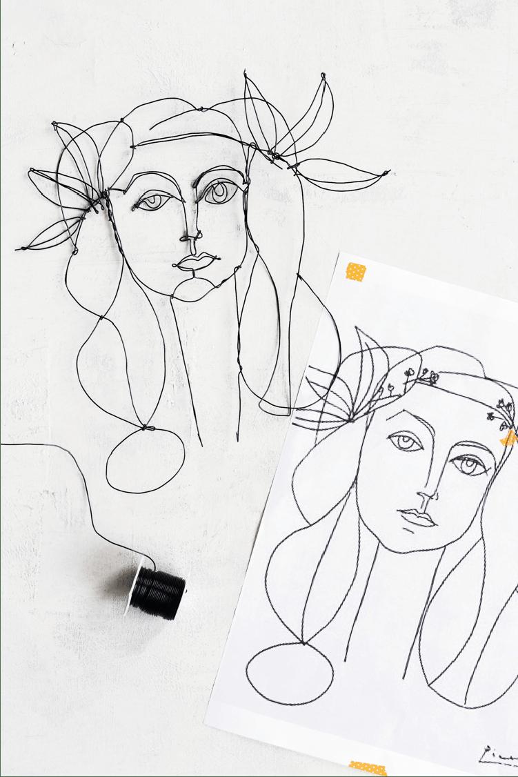 DIY Picasso Wire Art (+ modèles pour s'inspirer et réaliser sa décoration murale en fil de fer !) - www.decocrush.fr | @decocrush