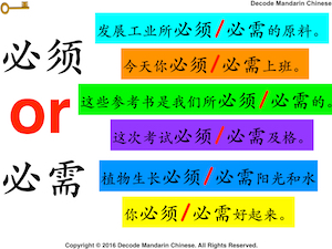 How to differentiate between 必须 and 必需?