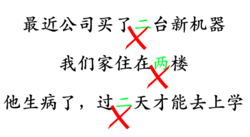 difference between 二 and 两