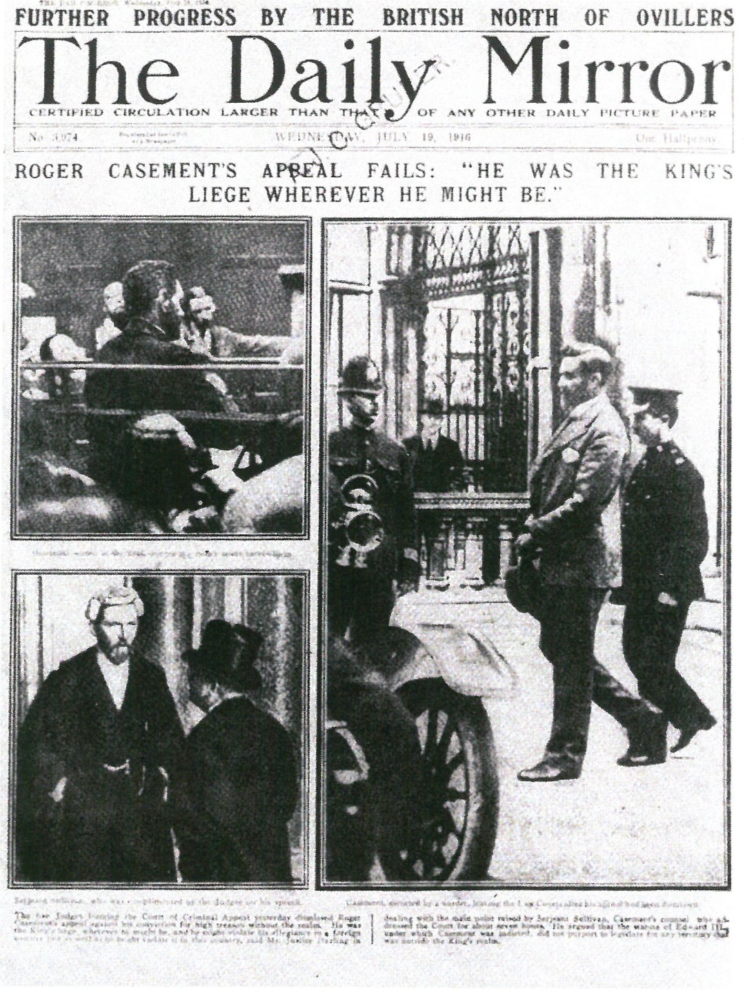 The Daily Mirror - Casement Trial