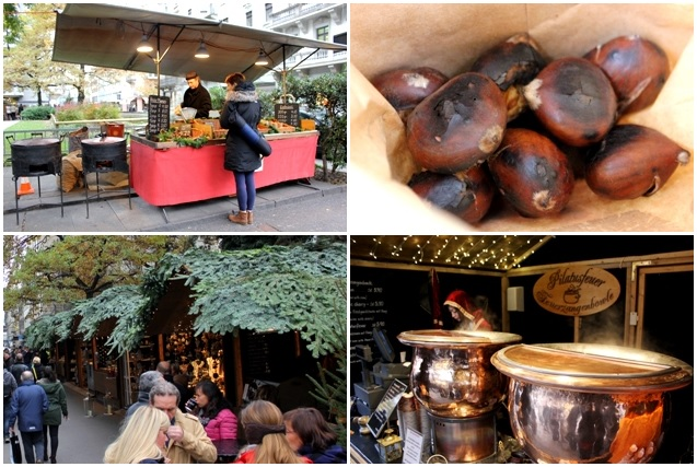 Marroni (Chestnuts) and Gluwein (Mulled Wine)