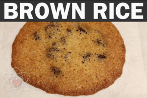 Brown rice flour, baked