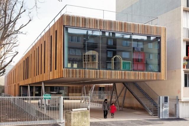 School Center Lucie Aubrac Nanterre-France-2012 (Dietmar Feichtinger Architectes)