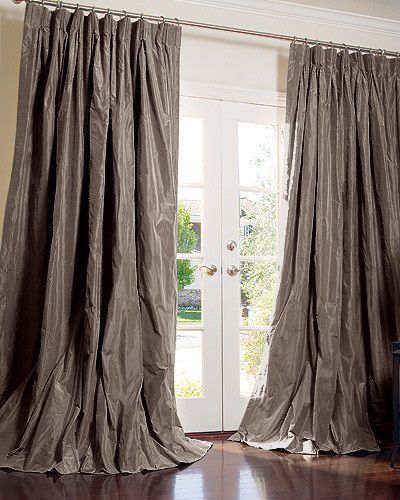tafeta curtains