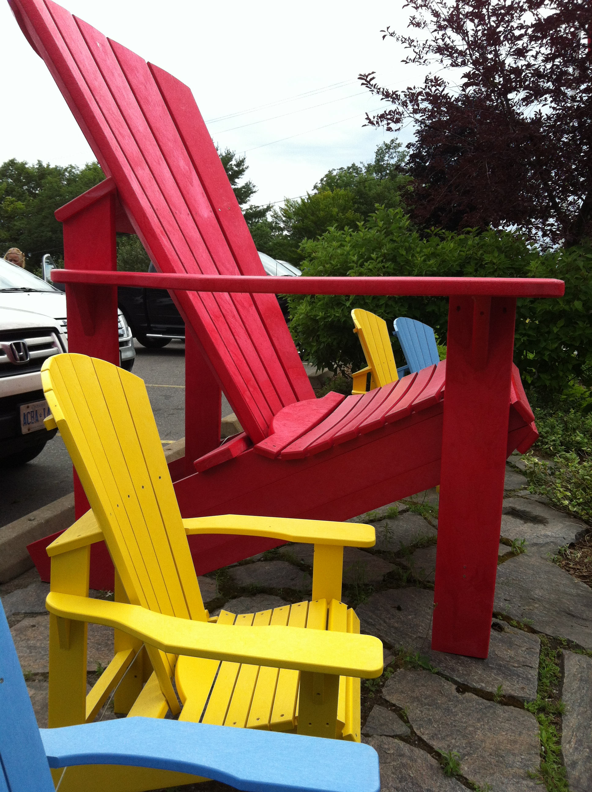 This Year The Chairs Are Very Colorful In Muskoka