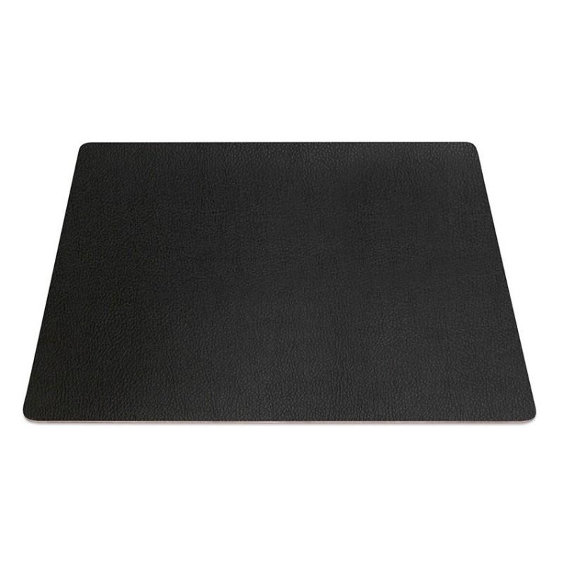 9 sets de table rectangle pvc noir aspect lisse