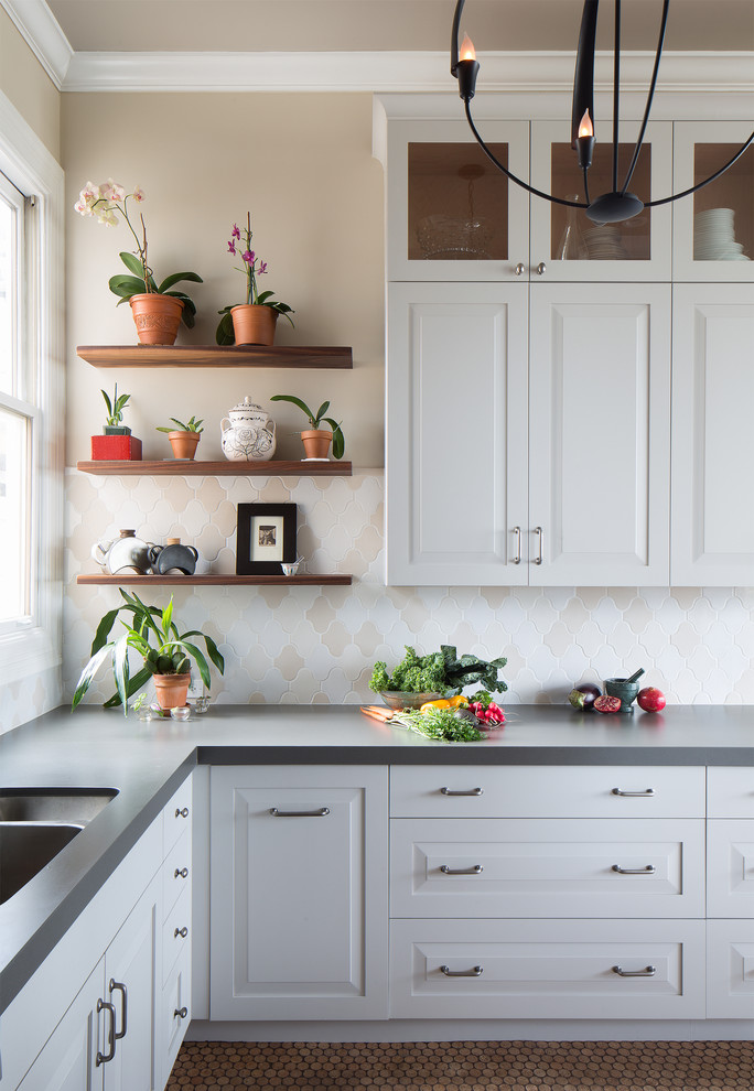 Pictures Of Kitchens Gray Light Grey Quartz Countertops   BSTCountertops On  Kitchen Design Ideas With Oak Cabinets, Kitchen Gray Cabinet. White ...