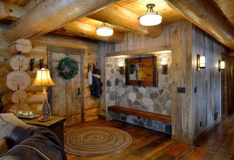 Beautiful Rustic Mud Wood Interior Designs Decohoms