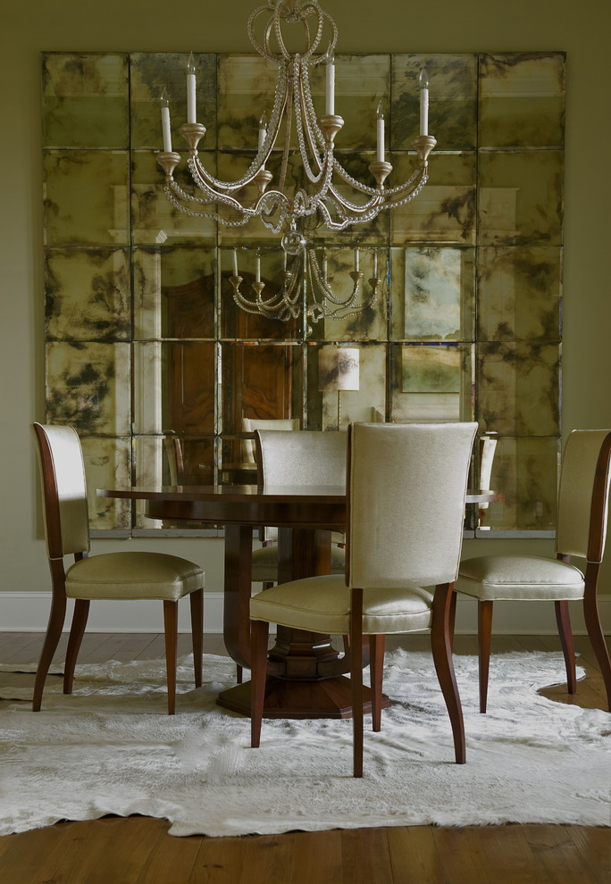 Creatively Arranged Decorative Mirrors For Dining Room Decohoms