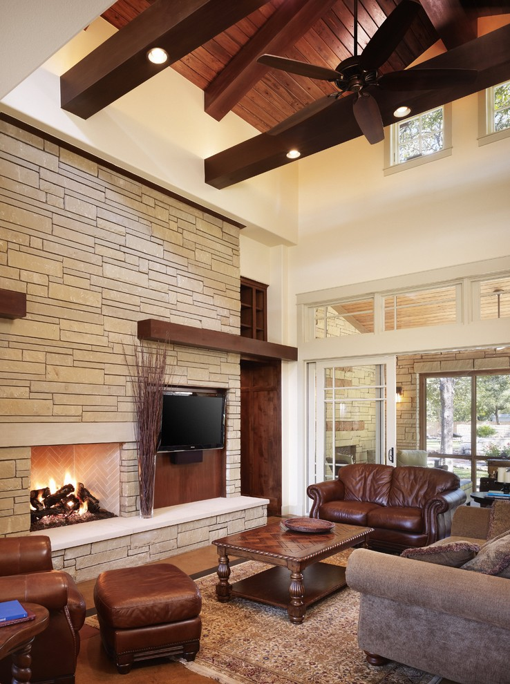 Family Room Brown Leather Furniture