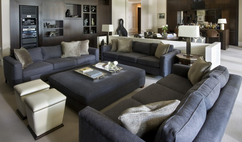 Ideas Room Design Sectional Family