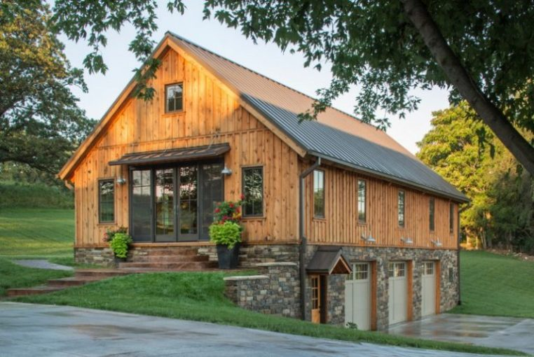 Affordable Pole Barn House Plans to Take A Look At   Decohoms pole barn house plans frame garages loft post and beam rustic standing seam  metal roof stone