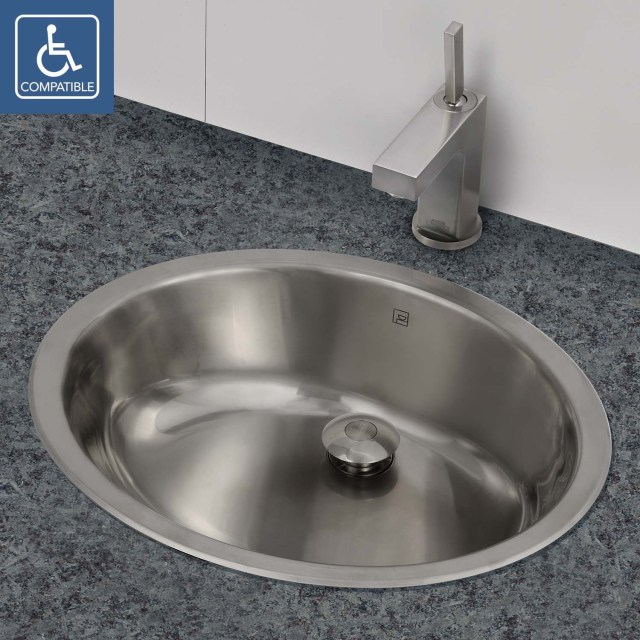 DECOLAV 1300 Simply Stainless Collection Oval Undermount