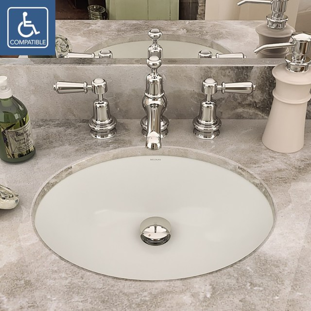 DECOLAV 1401 Series Oval Undermount Vitreous China Bathroom Sink