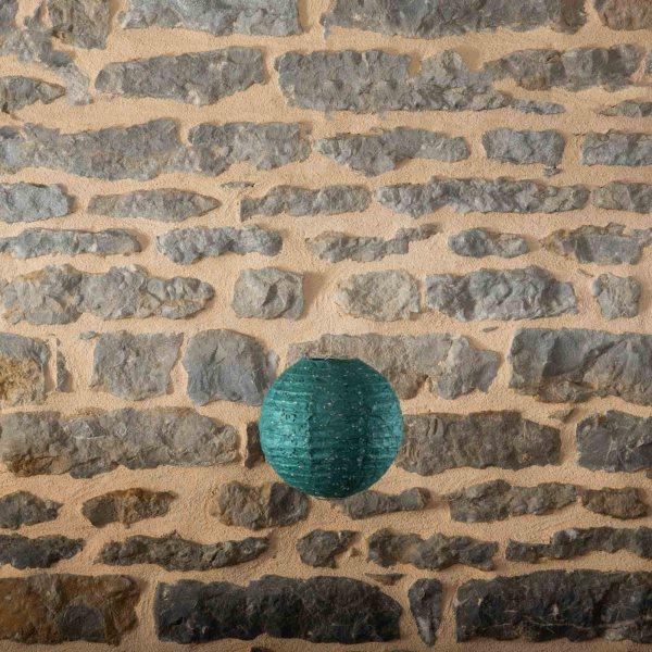 Location-Boule-chinoise-20cm-vert-fonce-dentelle-7exemplaires