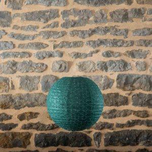 Location-Boule-chinoise-35cm-vert-fonce-dentelle-7exemplaires