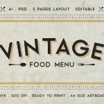 40 Restaurant Food Menu Design Psd Templates Decolore Net