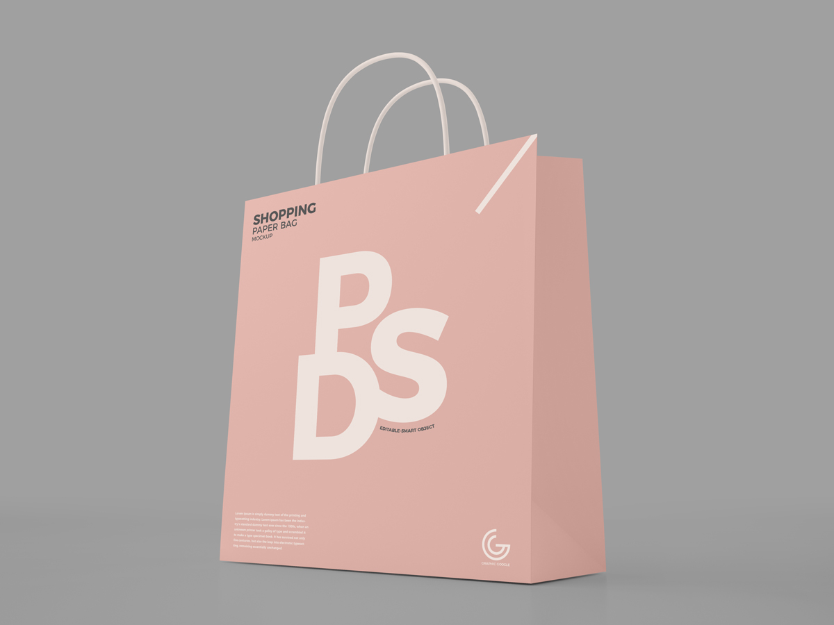 Piece of visualization for an online store, branding, and product design. 40 Best Shopping Bag Psd Mockup Templates Decolore Net