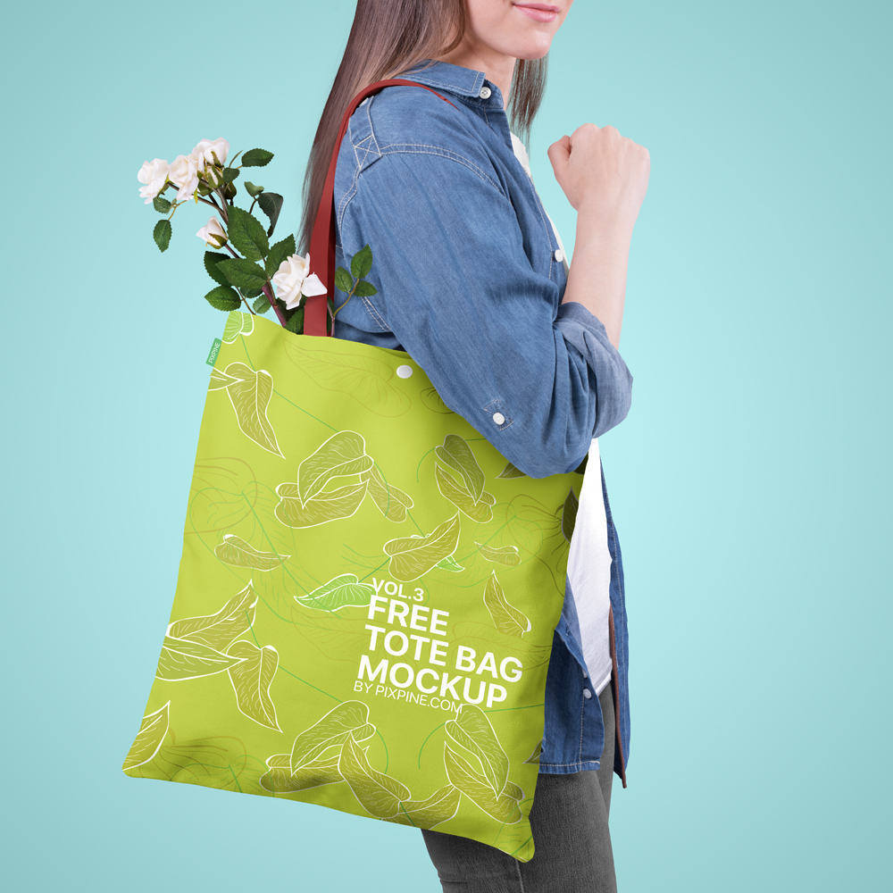 A bag is one of the strongest marketing elements to spread. Free Adorable Tote Bag Mockup Psd Decolore Net