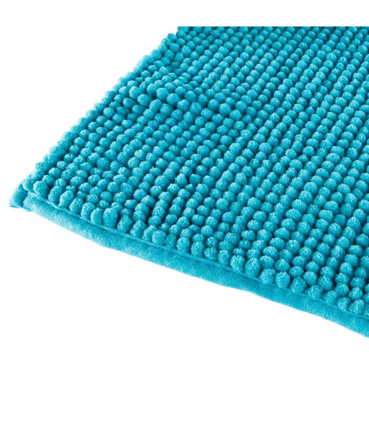 tapis de bain chenille courte turquoise 50x80