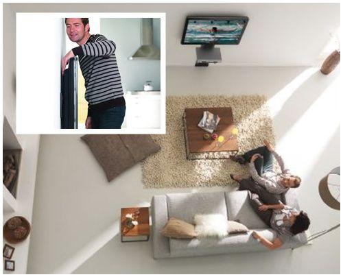 vista soporte TV y montaje